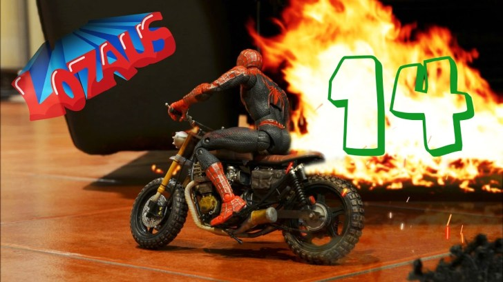 SPIDERMAN-Stop-Motion-Part-14-with-Superheroes-IRONMAN-Mark-42-IRONMAN-Mark-45-HULK