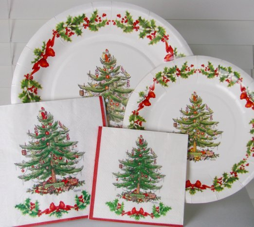 Image result for pictures of holiday paper dinner plates