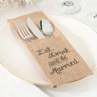 Burlap Silverware Holders | Rustic Table Decor ...