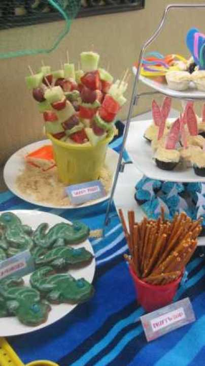 Beach themed food