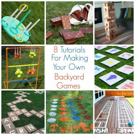 8 tutorials for making your own backyard games party ideas