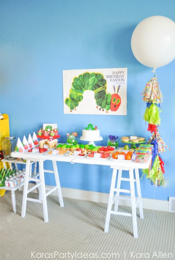 very hungry caterpillar theme is perfect for a toddler s birthday