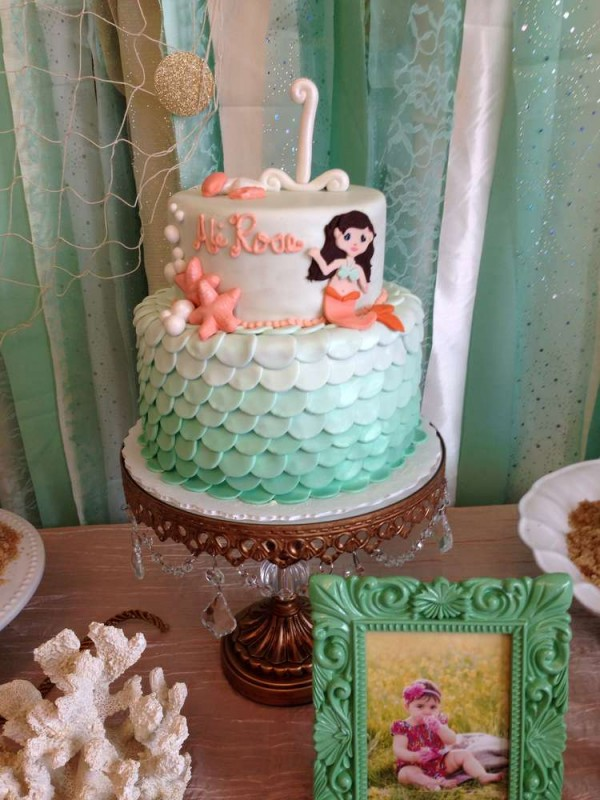 Birthday Cake Ideas Mermaid : 8 Mermaid Themed Birthday Cakes   Party Ideas