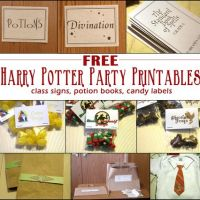 Download Free Harry Potter Party Printables