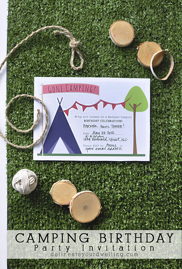 Download A Free Printable Camping Party Invitation Party