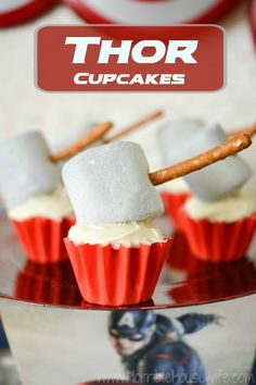 Thor's Hammer Cupcakes