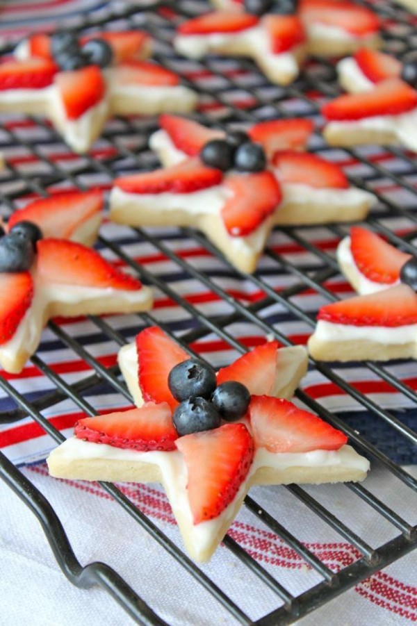 Easy Patriotic Star Cookies For The 4th Of July Party Ideas