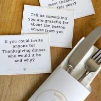 Download Free Printable Thanksgiving Conversation Starters