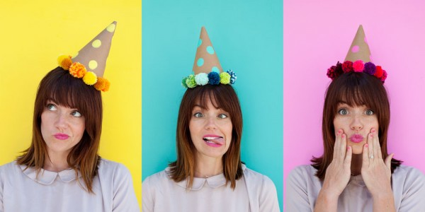 Coloful-party-hat-DIY