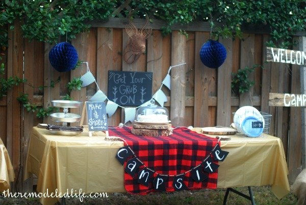 Diy Camping Party Party Ideas