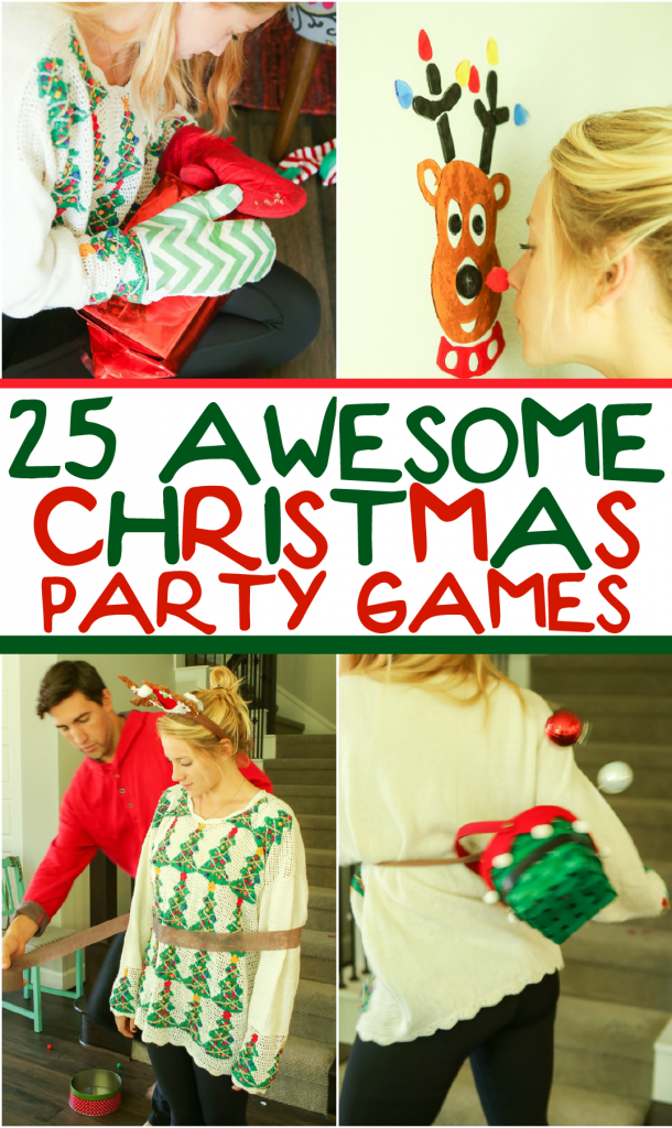 Next Party Idea 25 Hilarious Christmas Games