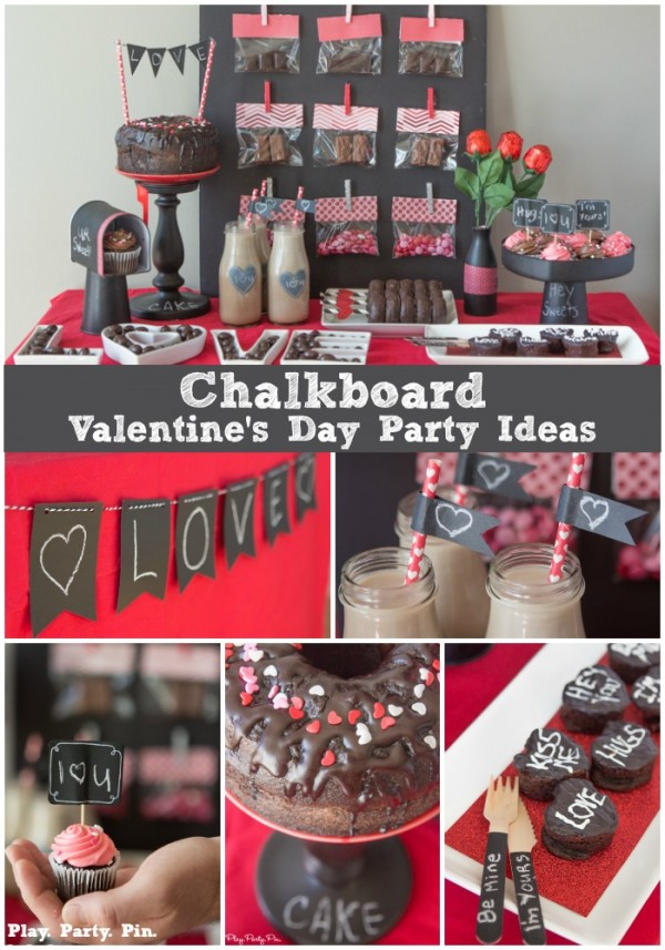 Chalkboard Valentines Party Party Ideas