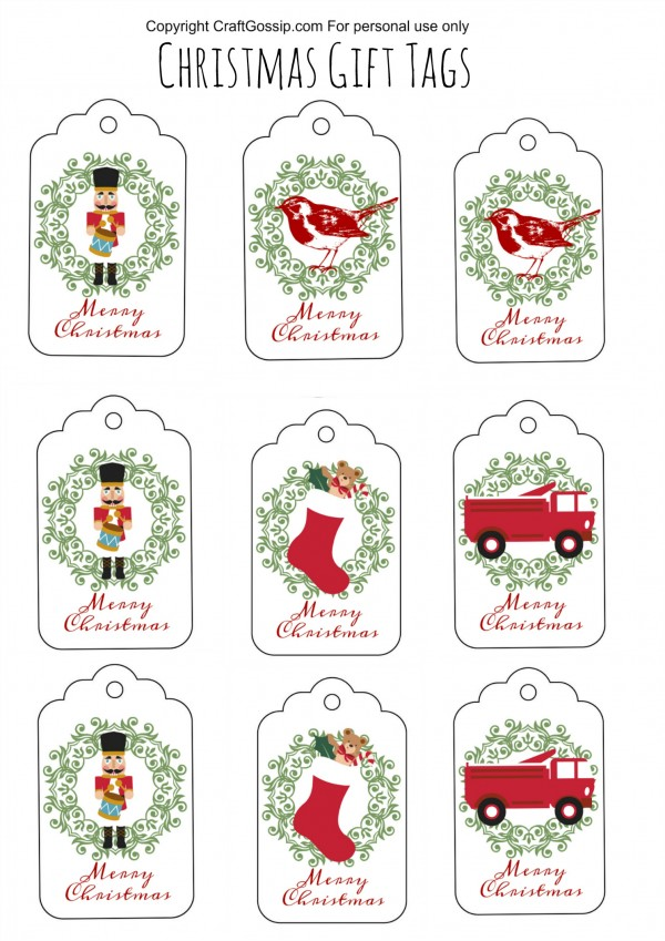 image regarding Printable Christmas Gifts identify No cost Printable Xmas Present Tags Bash Designs