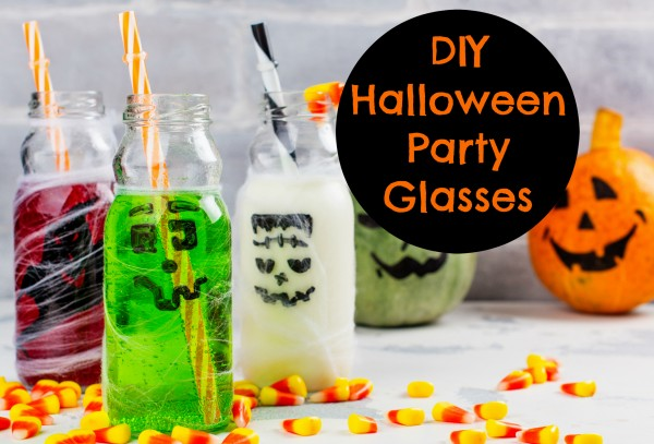 DIY Halloween Party Glasses