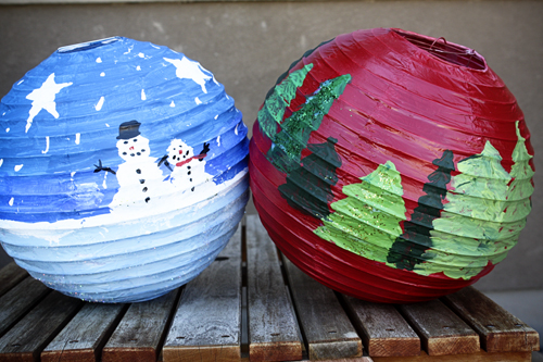 DIY Christmas Paper Lanterns