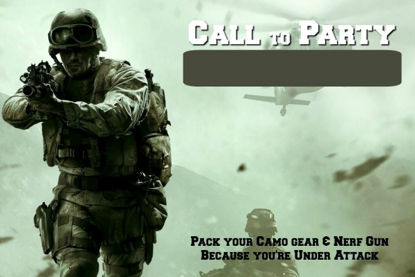 Free printable call of duty birthday ivoiregion diy army call of duty party ideas party ideas filmwisefo