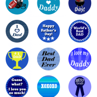 Free Printable - Father's Day Cupcake Toppers