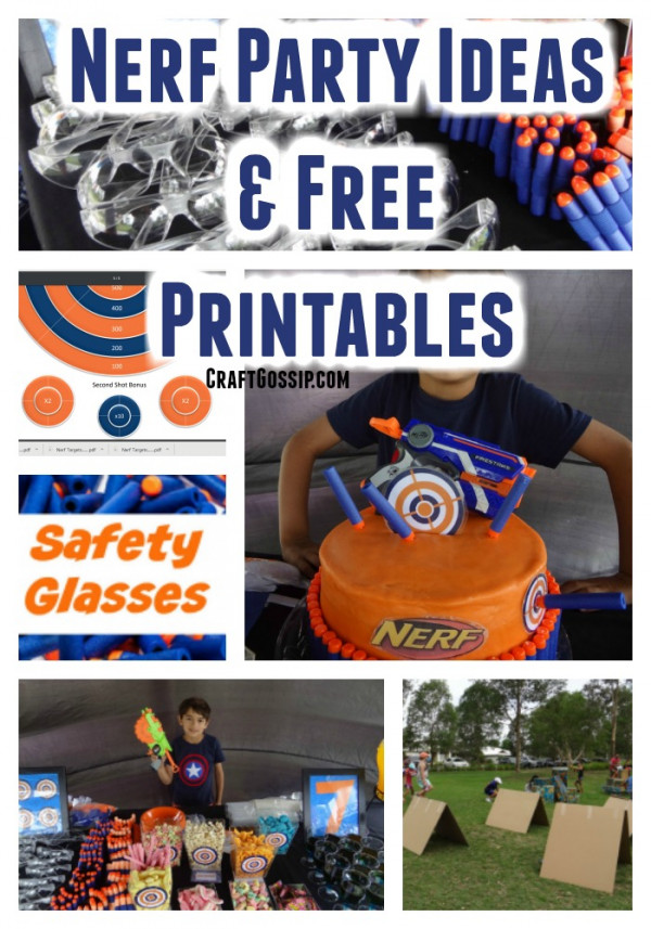 graphic about Nerf Targets Printable referred to as Nerf Social gathering Strategies With No cost Printables Occasion Tips
