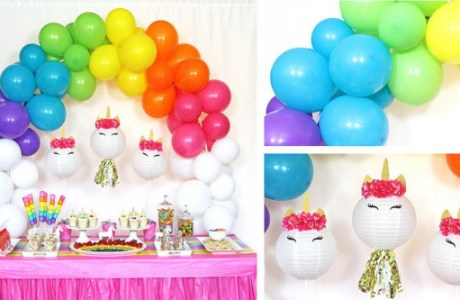 Magical Unicorn and Rainbows Party
