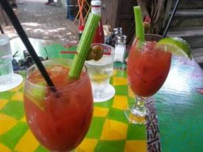 Key West bloody mary drinks