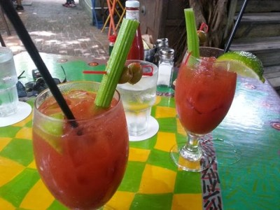 Key West bloody mary drinks