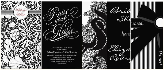 white dinner party invitations