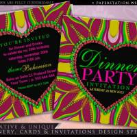 Bohemian Dinner Party Invitations