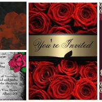 Red Roses Gothic Wedding Invitations