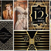 Gatsby Black Gold theme | Art Deco Invitations