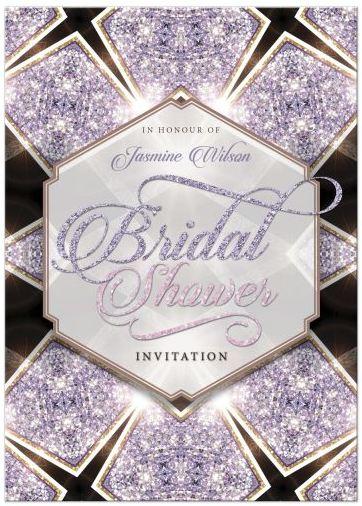 Glitter Wedding Invitation Bridal Shower Invitations Enement Announcement Gold Silver Cut Invite