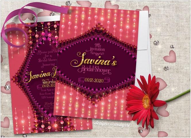 Typography Purple Wedding Invitations