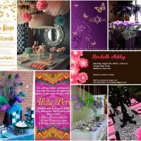 Bat Mitzvah & Quinceanera Pink Purple Invitations