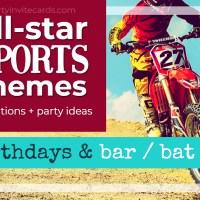 Sports Themed Bar & Bat Mitzvah Invitations