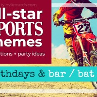 Sports Themed Bar & Bat Mitzvah Invitations