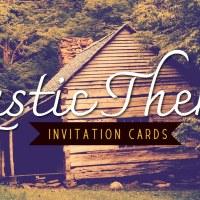 Rustic Theme Invitations