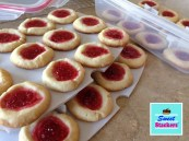Sweet Stackers Jam Filled Thumbprint Cookies