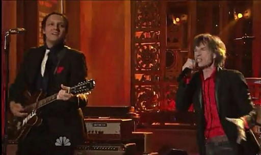 Arcade Fire sported red squares on SNL