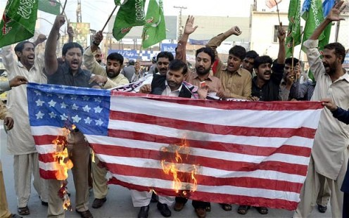 Pakistanis protesting the US