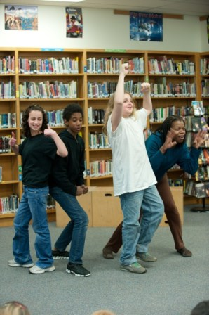 middle school show with student and adult actors