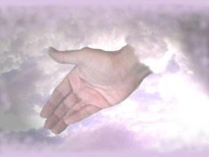 protective hand of god