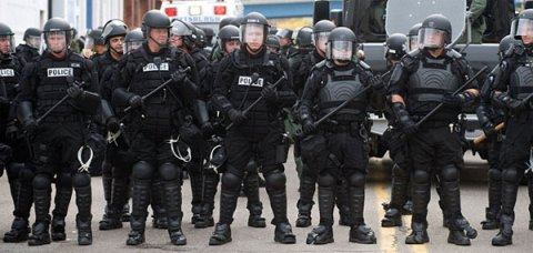 American Police State, riot police