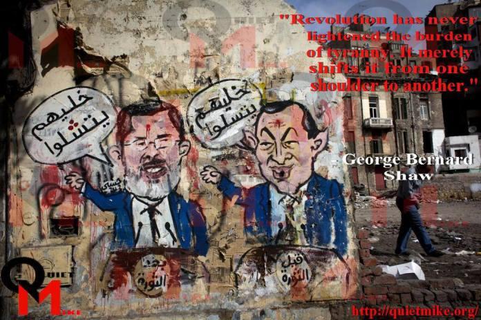 george bernard shaw, revolution in egypt