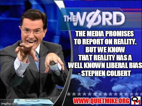 stephen colbert, liberal media bias