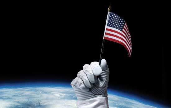 space, american flag