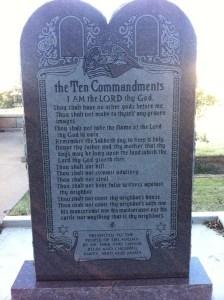 ten commandments, satanic monument