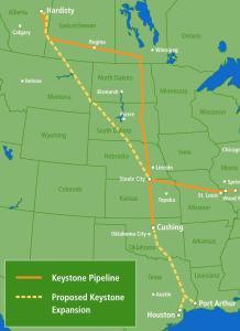 Reasons Americans should reject the Keystone XL Pipeline, pipeline map