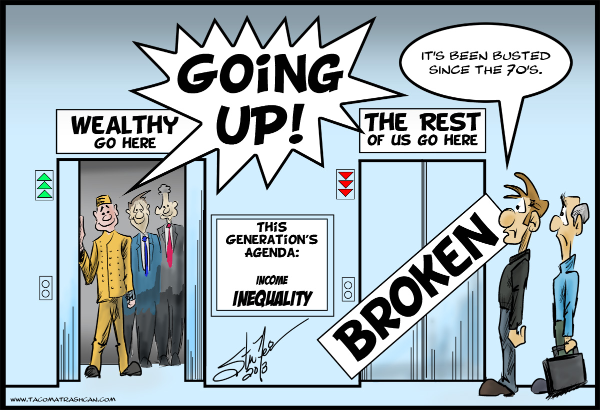 Income Inequality, cartoon