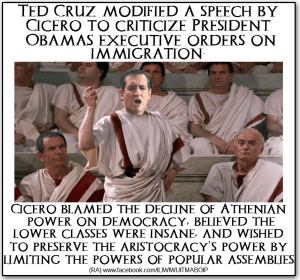 Senator Ted Cruz, Cicero