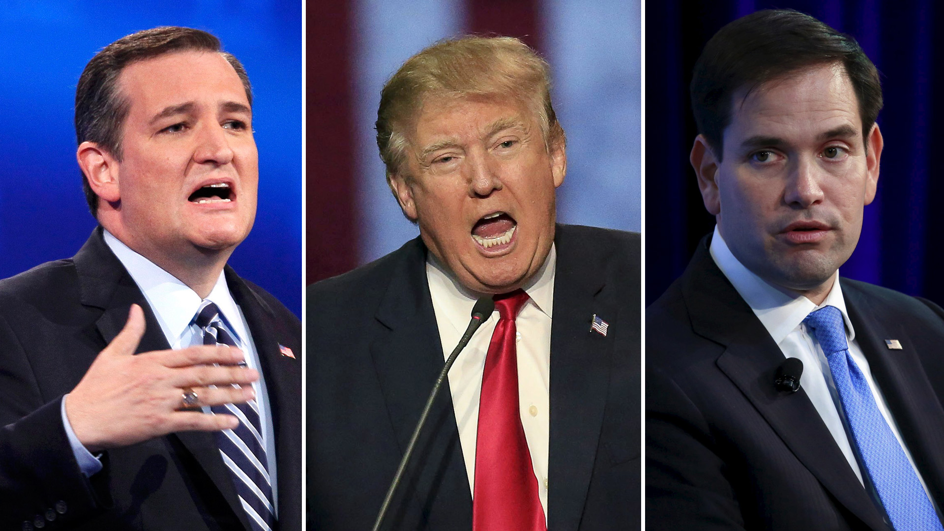 GOP Candidates, trump, rubio, cruz
