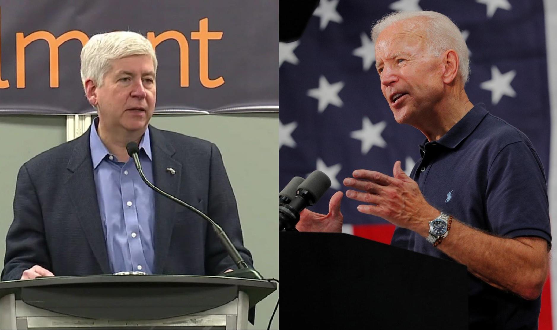 Biden, Endorsement from Rick Snyder